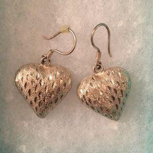 Heart/strawberry earrings